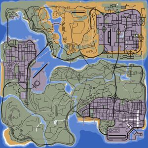 Map of San Andreas