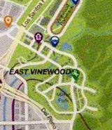 Vinewood East Carte Los Santos
