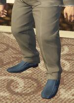 Ponsonbys (V - Granatowe buty wsuwane)