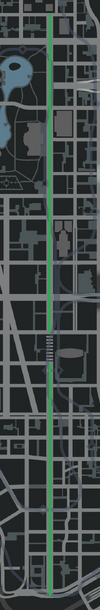 Columbus Avenue (IV - mapa)