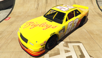 HotringSabre-GTAO-Liveries-53-Biglogs-Yellow-FrontQuarter