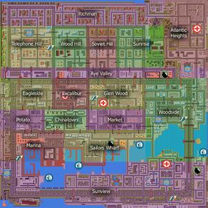 San Andreas GTA Map