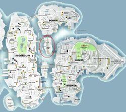 Charge Island - Mapa