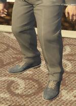 Ponsonbys (V - Niebieskie zamszowe buty)