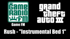 "GTA III (GTA 3) - Game FM Rush - ""Instrumental Bed 1"""