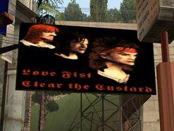 Love Fist billboard
