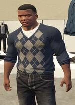 Ponsonbys (V - Granatowy sweter w romby)