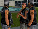 Gang motocyklistów