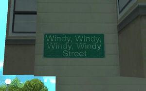 Windy Windy Windy Windy Street GTA San Andreas (plaque)