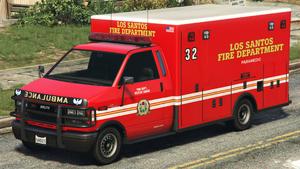 Ambulance L.S.F.D. GTA V (vue avant)