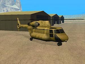 Cargobob GTA San Andreas (vue avant)