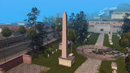 Cement-obelisk