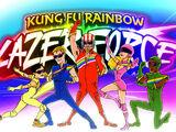 Laserowo-tęczowa drużyna kung-fu