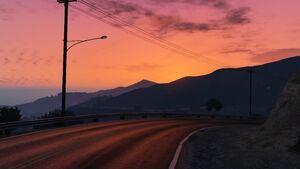 Marlowe Drive west sunset