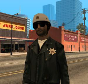 Полицейский-байкер GTA SA