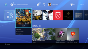 PlayStation 4 System Software Screenshot