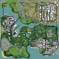 San Andreas GTA San Andreas (carte)
