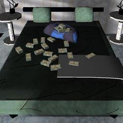 المال على السرير بعد مهمة