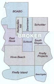 Broker podział na dzielnice (mapa)