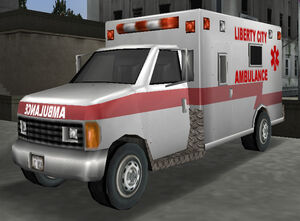 Ambulance gta3 front