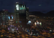 GTA5 Pillbox Hill Skyline Nacht