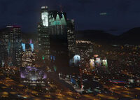 GTA5 Pillbox Hill Skyline Nacht
