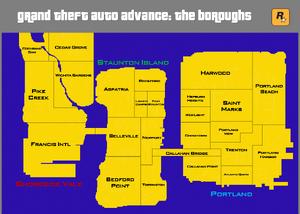 Grand Theft Auto Advance - The Boroughs
