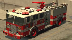 Camion de pompiers GTA IV (vue avant)