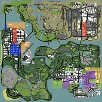 банды в Gta San Andreas Grand Theft Wiki Fandom
