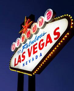 Реально существующий стенд Добро пожаловать в Лас-Вегас
