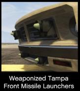 Tampa armée lance-missiles