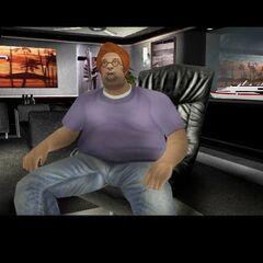 هيلاري كينج في لقطة شاشة من اللعبة قبل إصدارها النهائي.