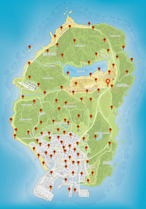Figurines cachées - GTA Online (carte)