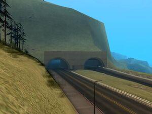 Bayside Tunnel GTA San Andreas (entrée ouest)