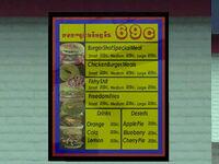 Burger Shot GTA San Andreas (menu)