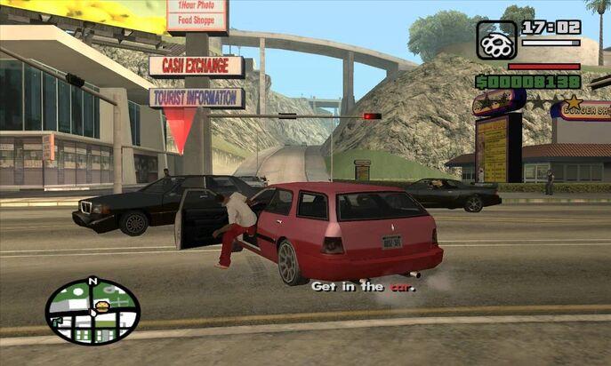 Карл угоняет машину