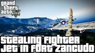 Grand Theft Auto V (PS3) - Roubando o P-996 Lazer Jet no Fort Zancudo