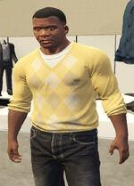 Ponsonbys (V - Żółty sweter w romby)