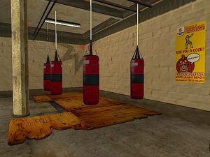 Below the Belt Gym GTA San Andreas (punching balls)