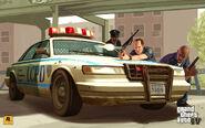 GTA 4 Artwork lcpd police