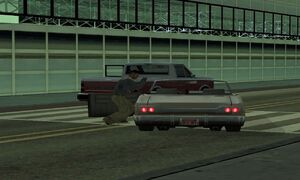 GTA SA - Car-jacking-at-LSX-during-the-riot