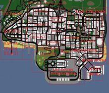 Los Santos (mapa - dzielnice)