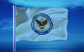 Развев флаг СА