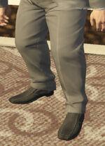 Ponsonbys (V - Czarne buty wsuwane z węża)