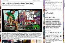Rockstar games anunciamento dos lowriders