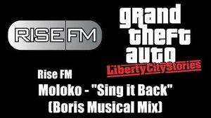 "GTA Liberty City Stories - Rise FM Moloko - ""Sing it Back"" (Boris Musical Mix)"