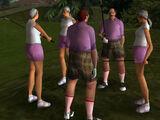 Gang golfistów