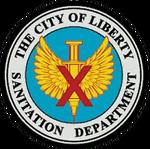 Liberty Sanitation Department (logo)