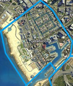 Vespucci (V - mapa)