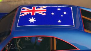 Australian flag on Imponte Dukes